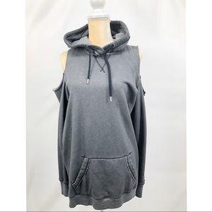 Hollister Cold Shoulder Hooded Sweatshirt